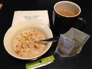 Pre-ride oatmeal & coffee